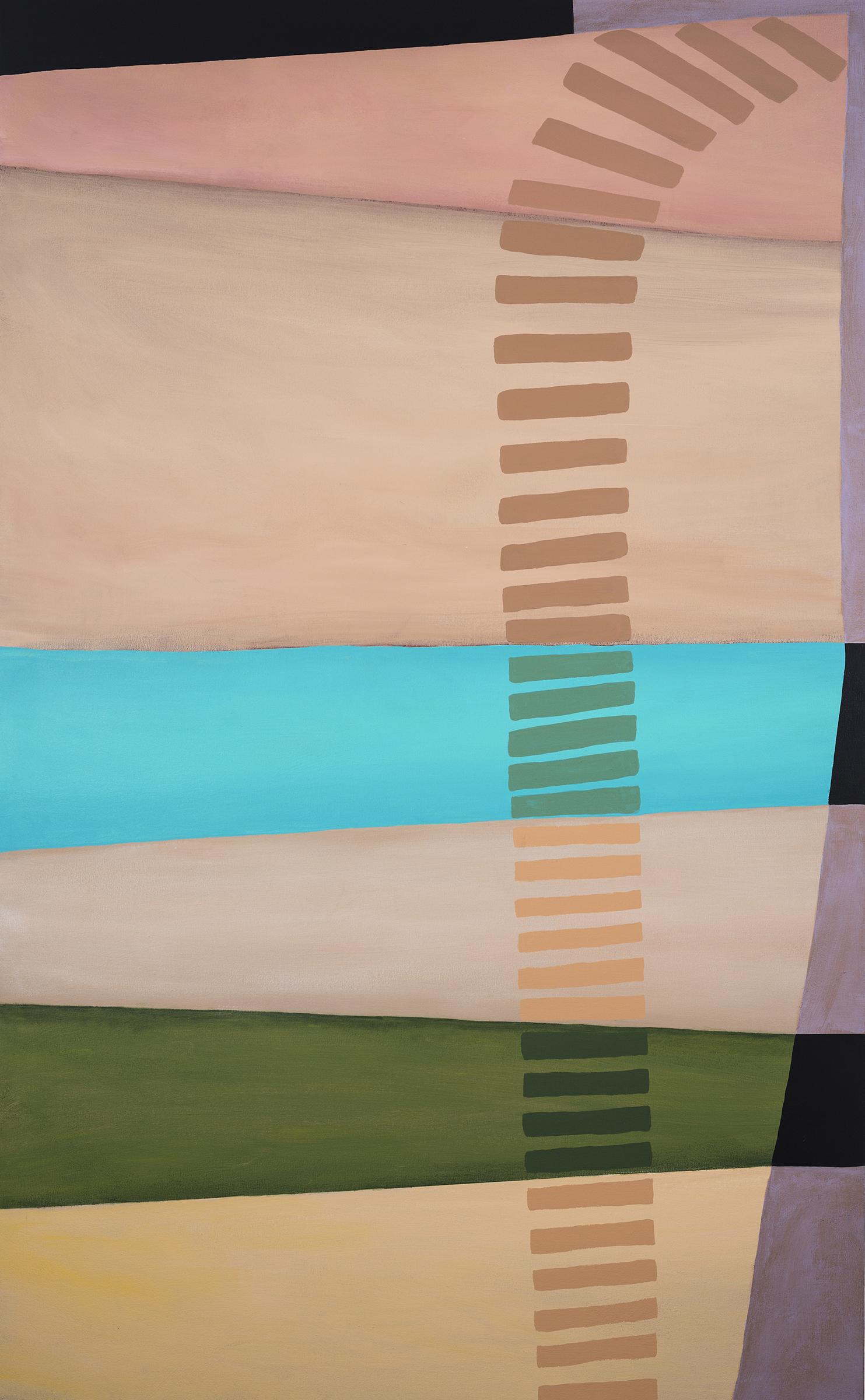 """Melissa Dunn, Alert and Courteous, 60"""" x 37"""", 2017, acrylic on canvas"""