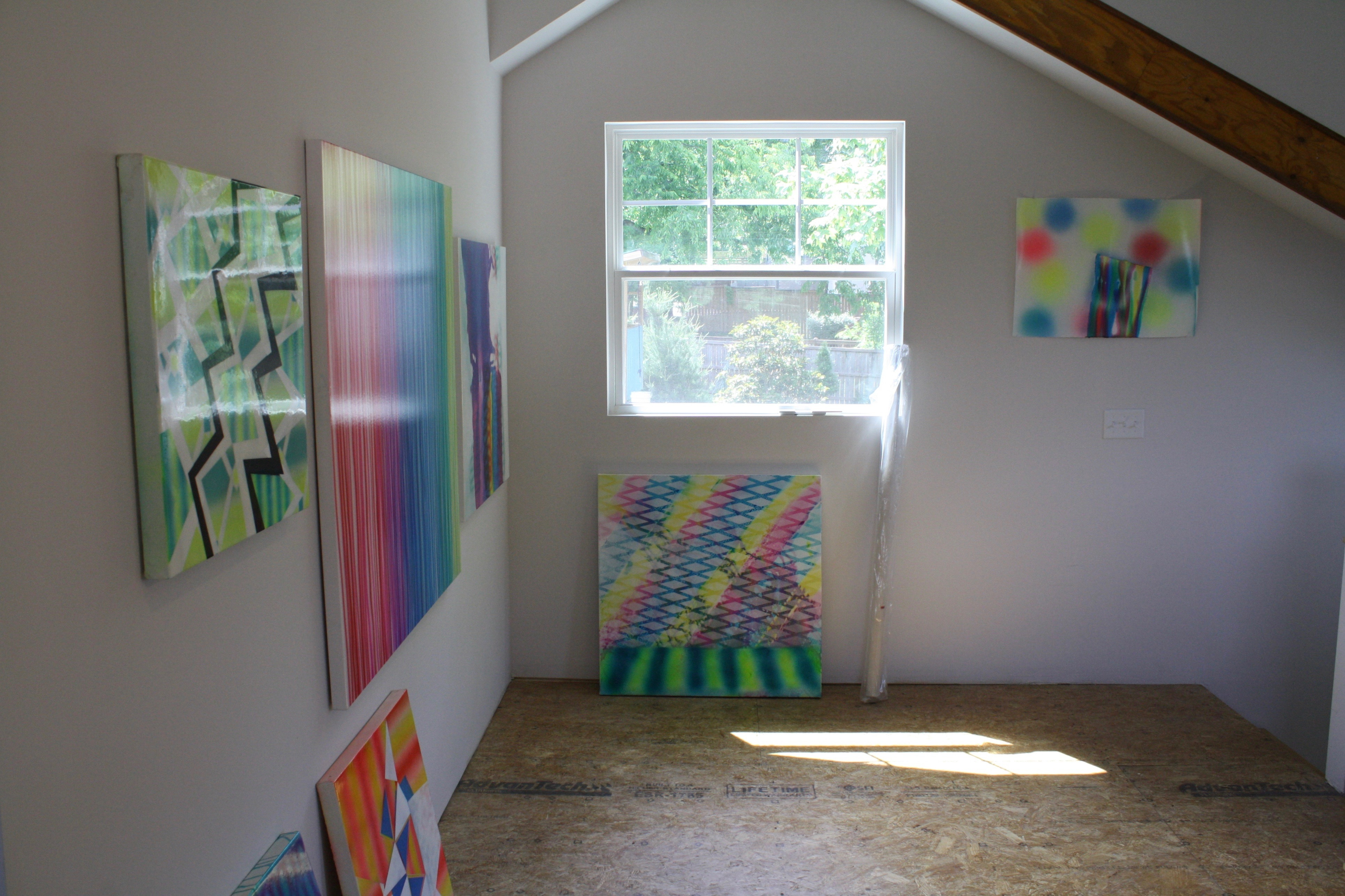 Alex Blau, Studio Visit, May 2017 (works pictured may be in-progress)