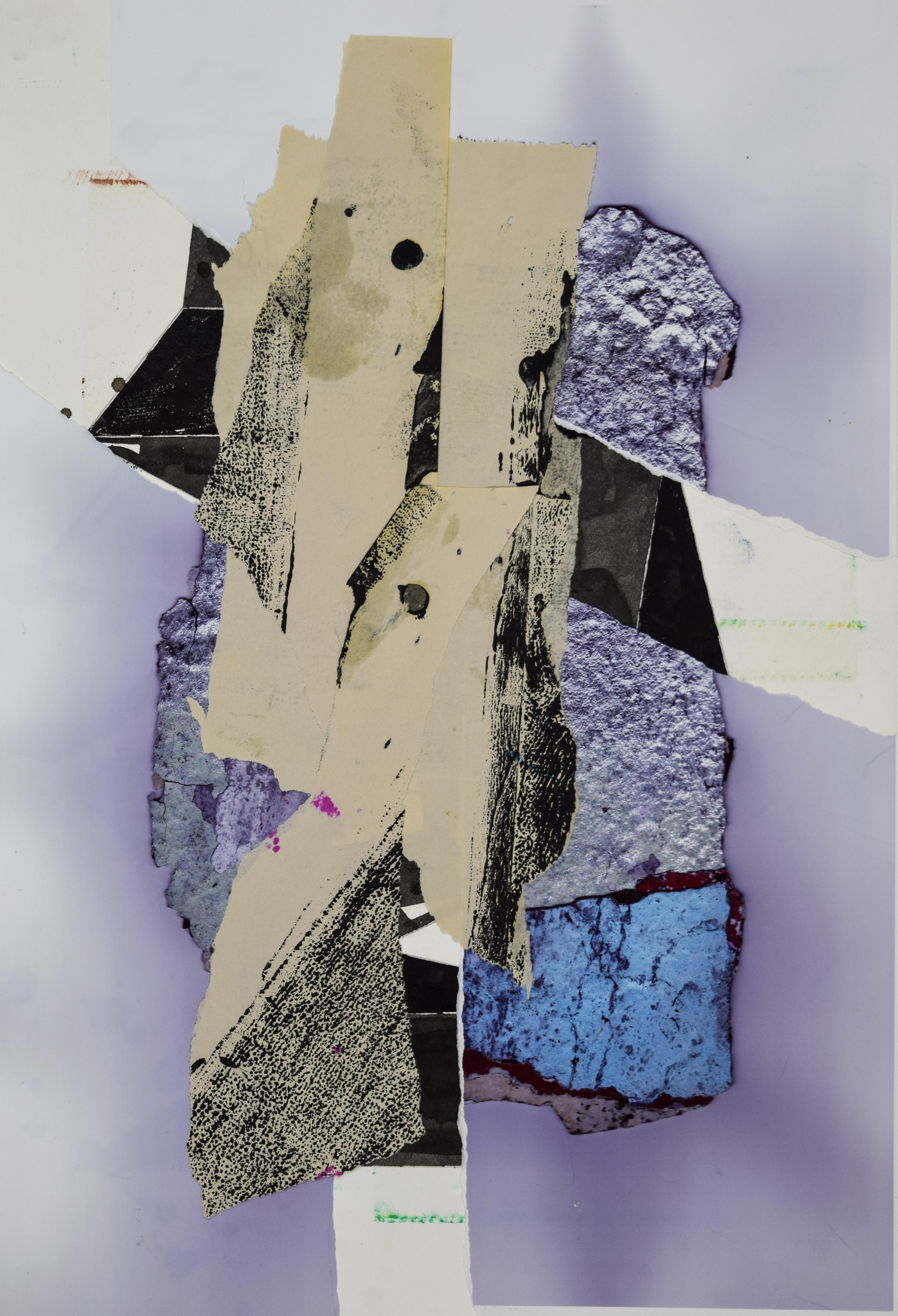 KJ Schumacher, Untitled (c014), mixed media collage, 22 x 15 in, 2020