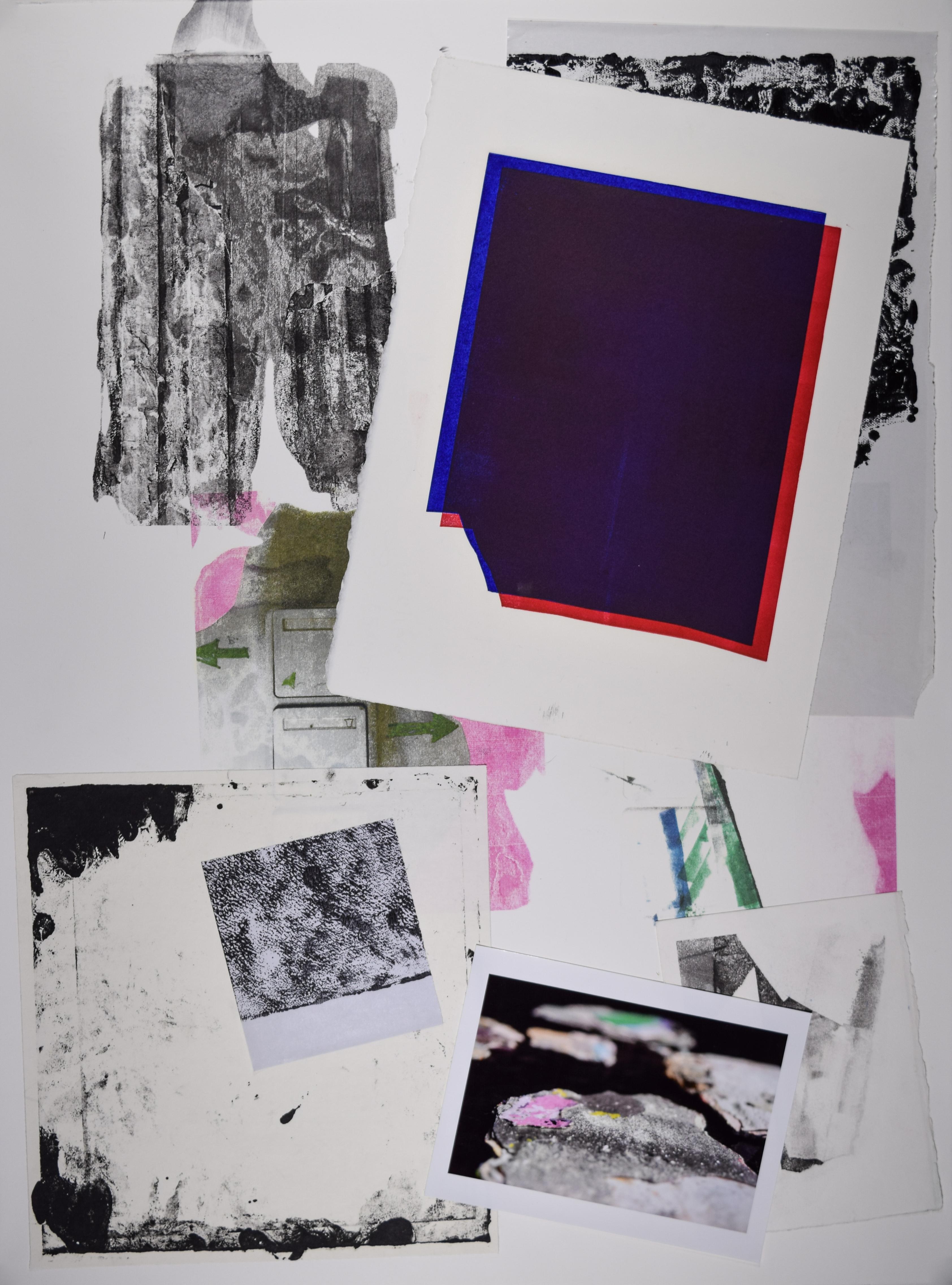 KJ Schumacher, Untitled (c024), mixed media collage, 30 x 22 in, 2020