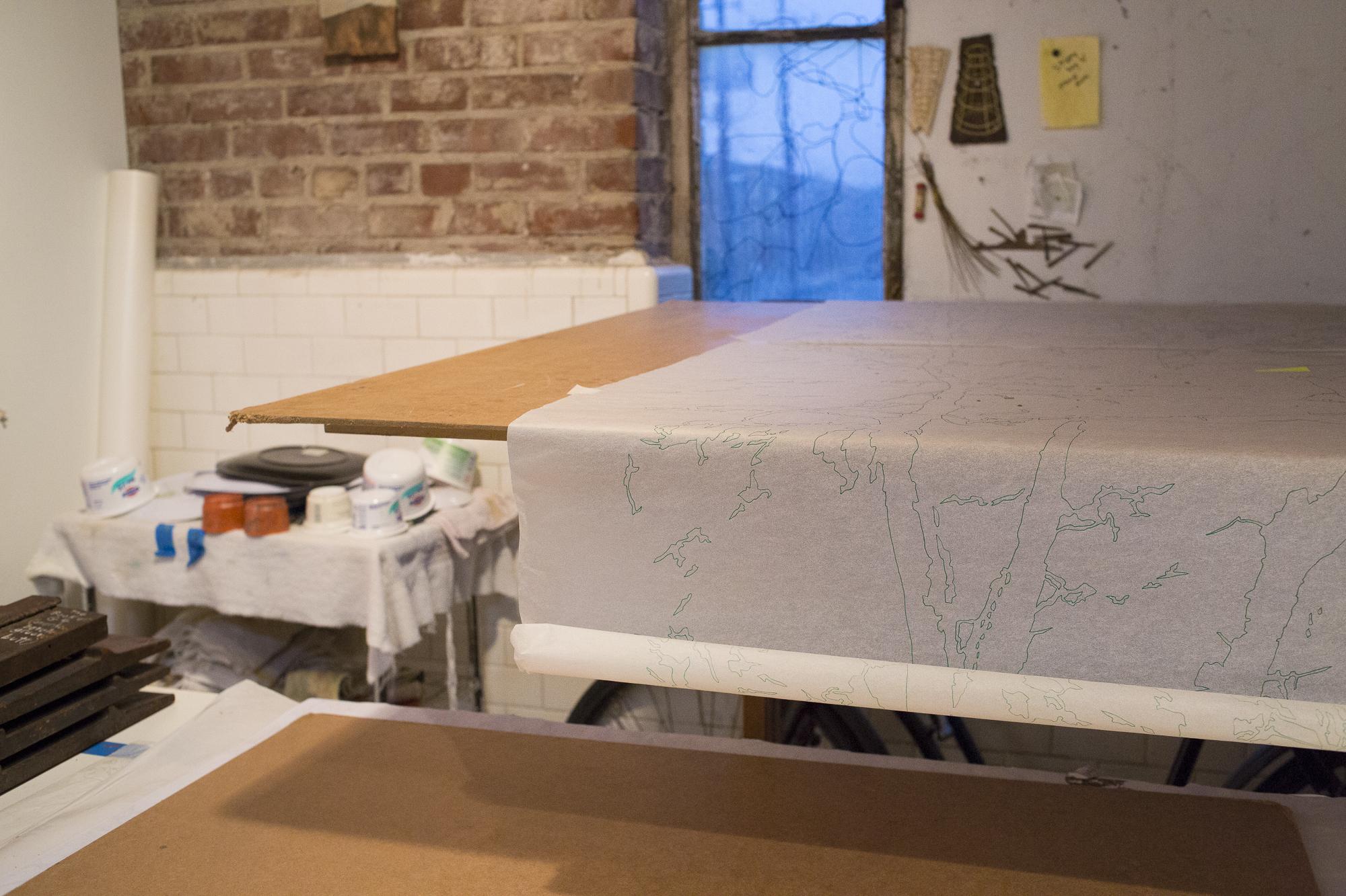 Maysey Craddock, Studio Visit, 2019 (photo: Tracy Treadwell)