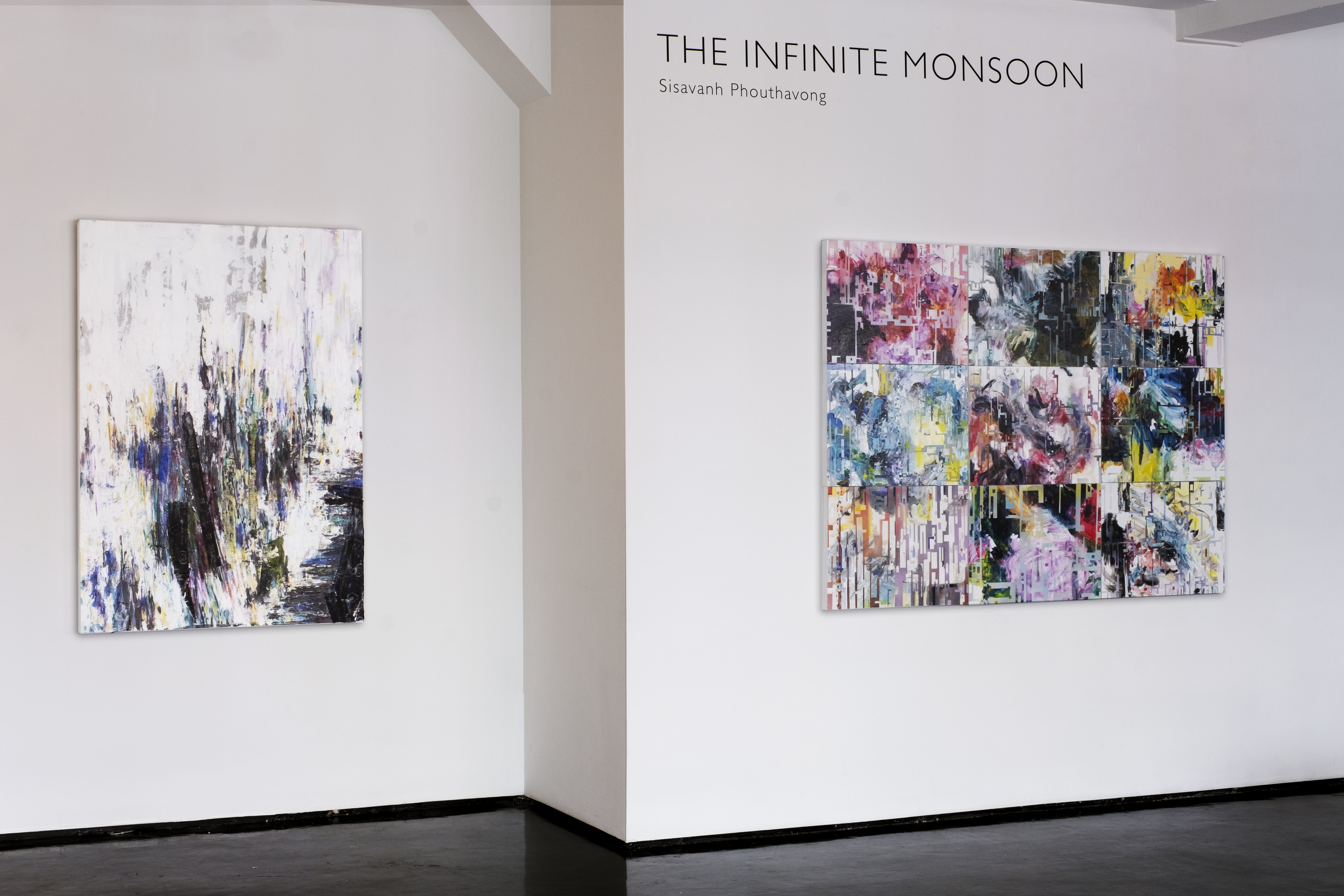 """Sisavanh Phouthavong, """"The Infinite Monsoon"""" - Left: """"Moving Mountains"""" Right: """"Quantify Tactical Zone"""" (photo: Tyler Squires)"""