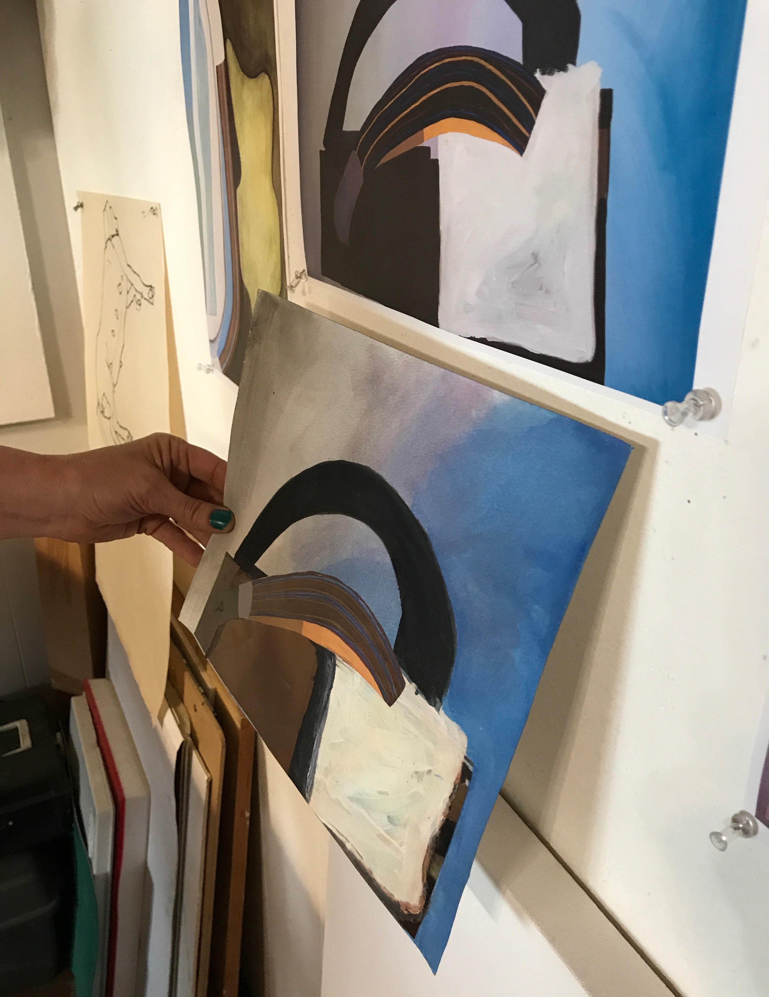 Melissa Dunn, Studio Visit, July 2017