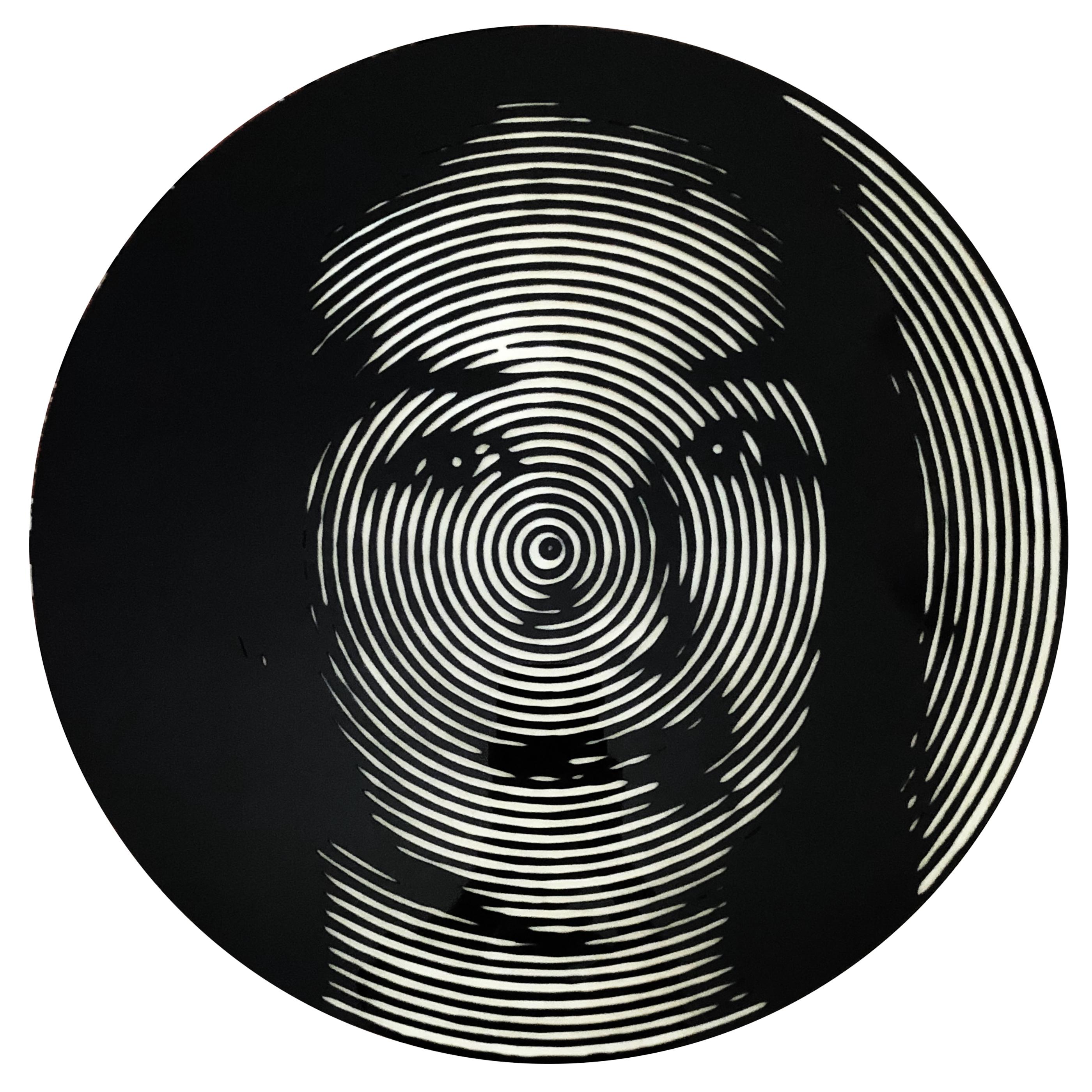 Nelson Gutierrez, Gloria Estela Lizarazo, 2019, 24 inches in diameter, Plexiglass and MDF