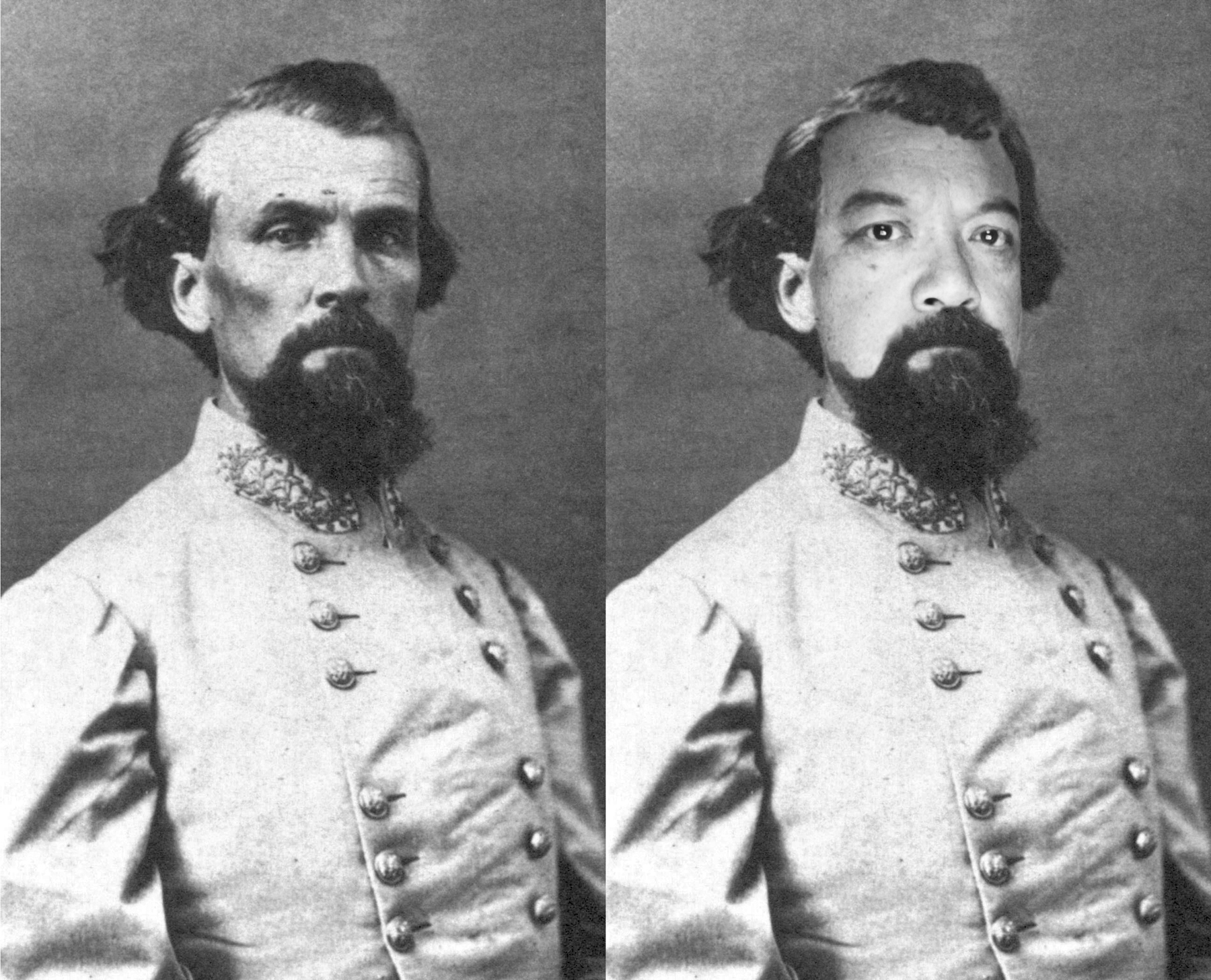 Richard Lou, 2016, the artist as Confederate General Nathan Bedford Forrest, stereoscope photo