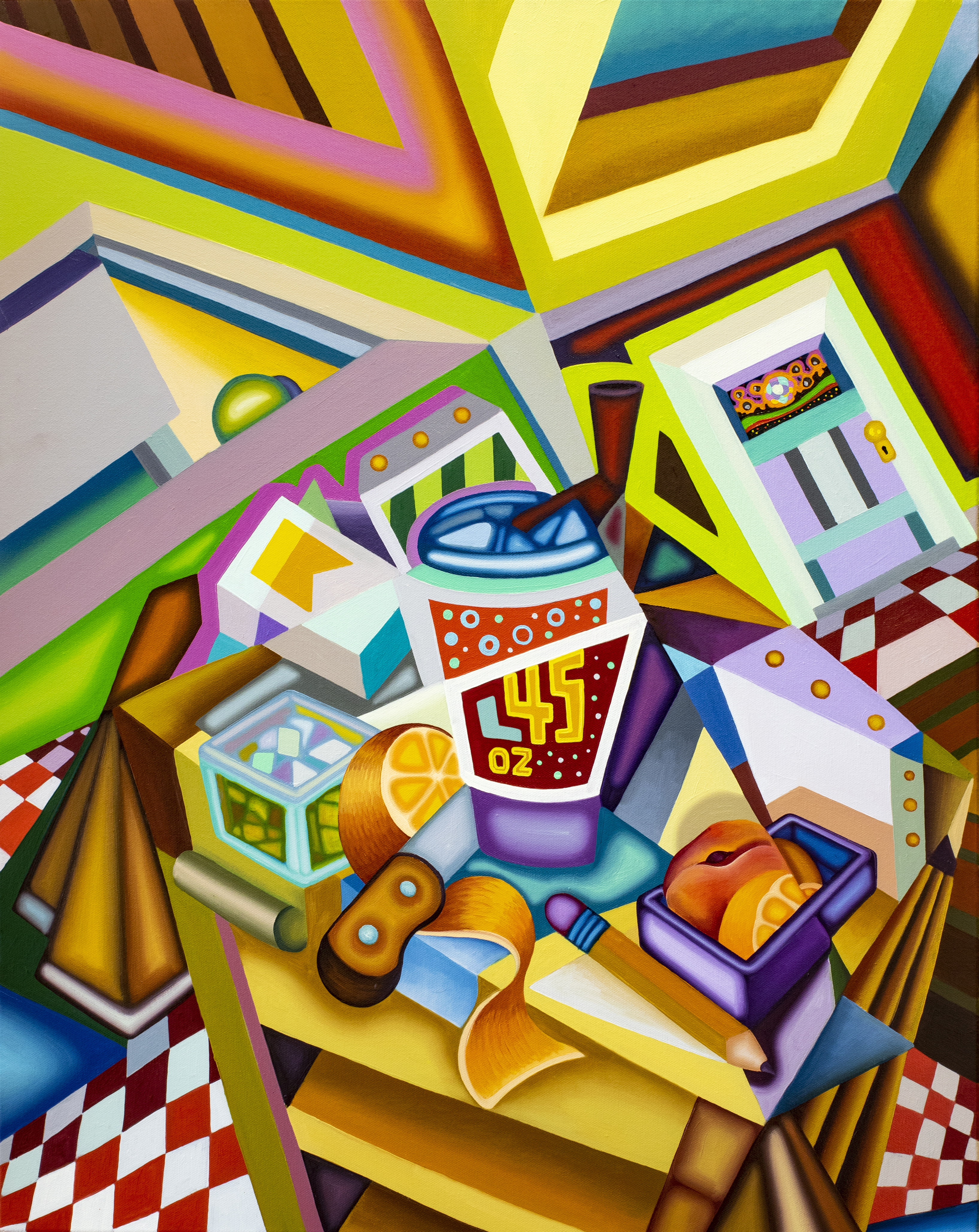 """Jason Stout, One Extra Ounce for the Unprotected Membrane, 2020, 24"""" x 30"""""""