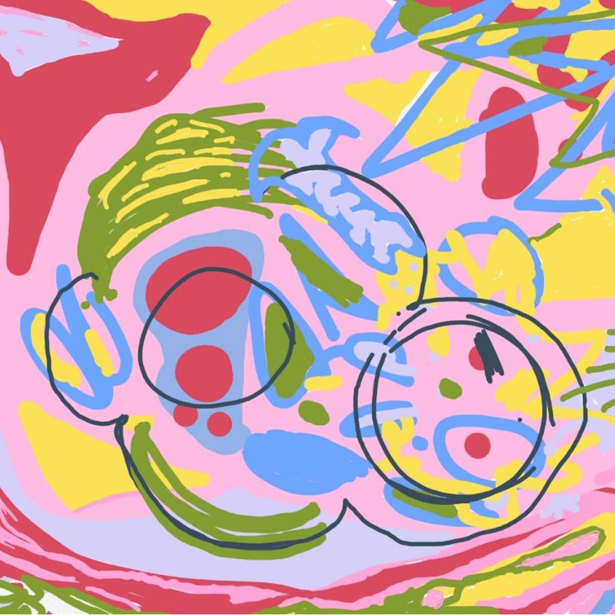 Joe Nolan, Soft Skull, 2020, digital painting, 4 X 4 in