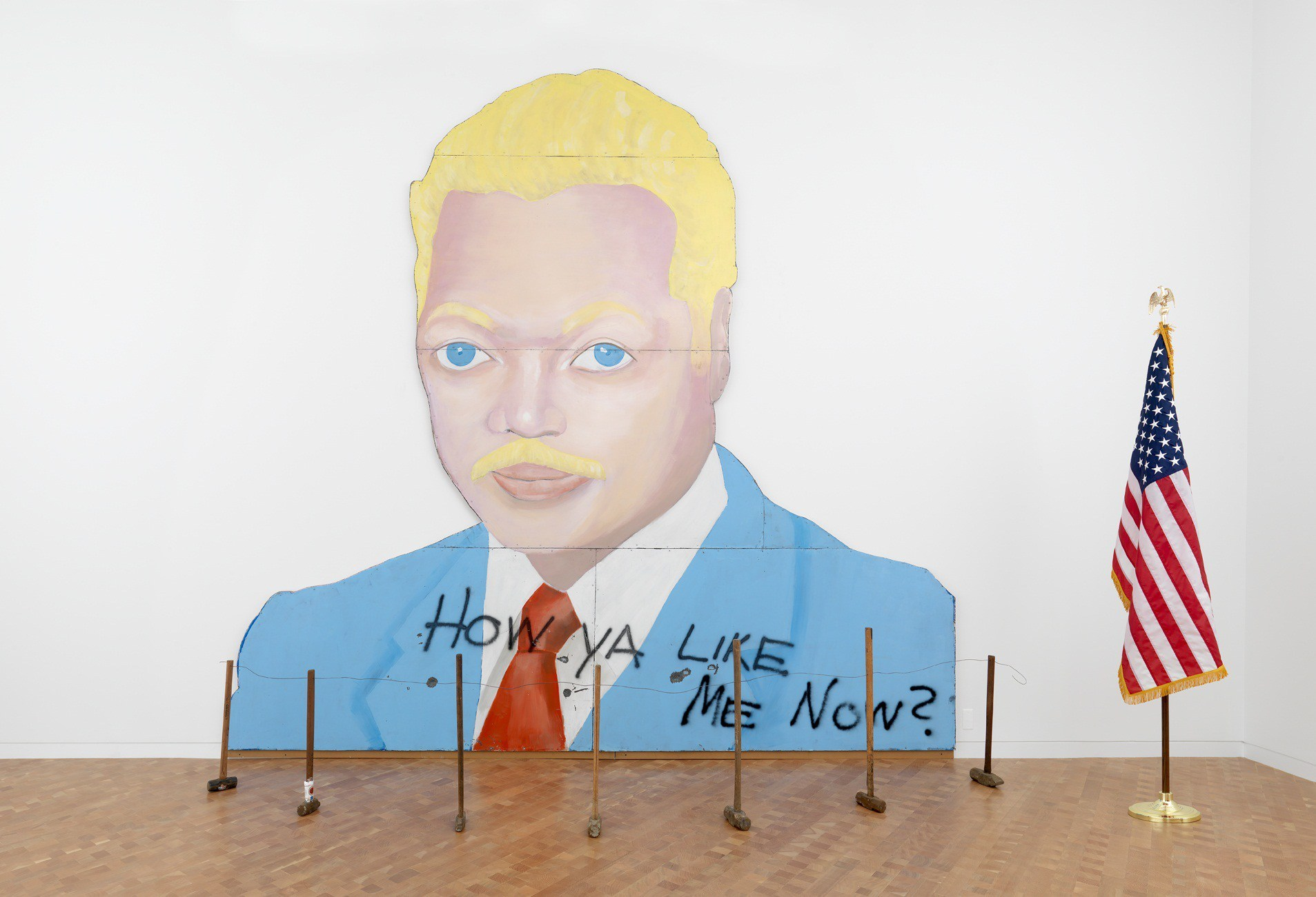 David Hammons, How Ya Like Me Now?, 1989