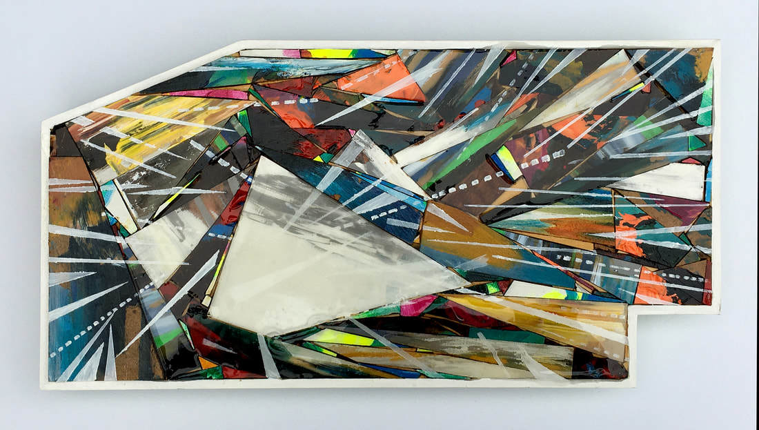 "Sisavanh Phouthavong, Indirect Traffic: Secret War on Laos #8, resin, wood, tape, acrylic paint, 18"" x 6"", 2020"