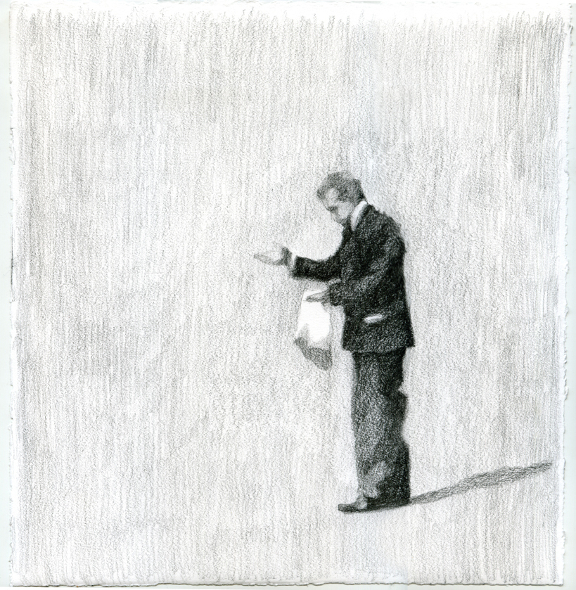 Nelson Gutierrez, In Memoriam. Life goes on, 2019, 28 drawings total at 11 x 11 inches each, graphite on paper