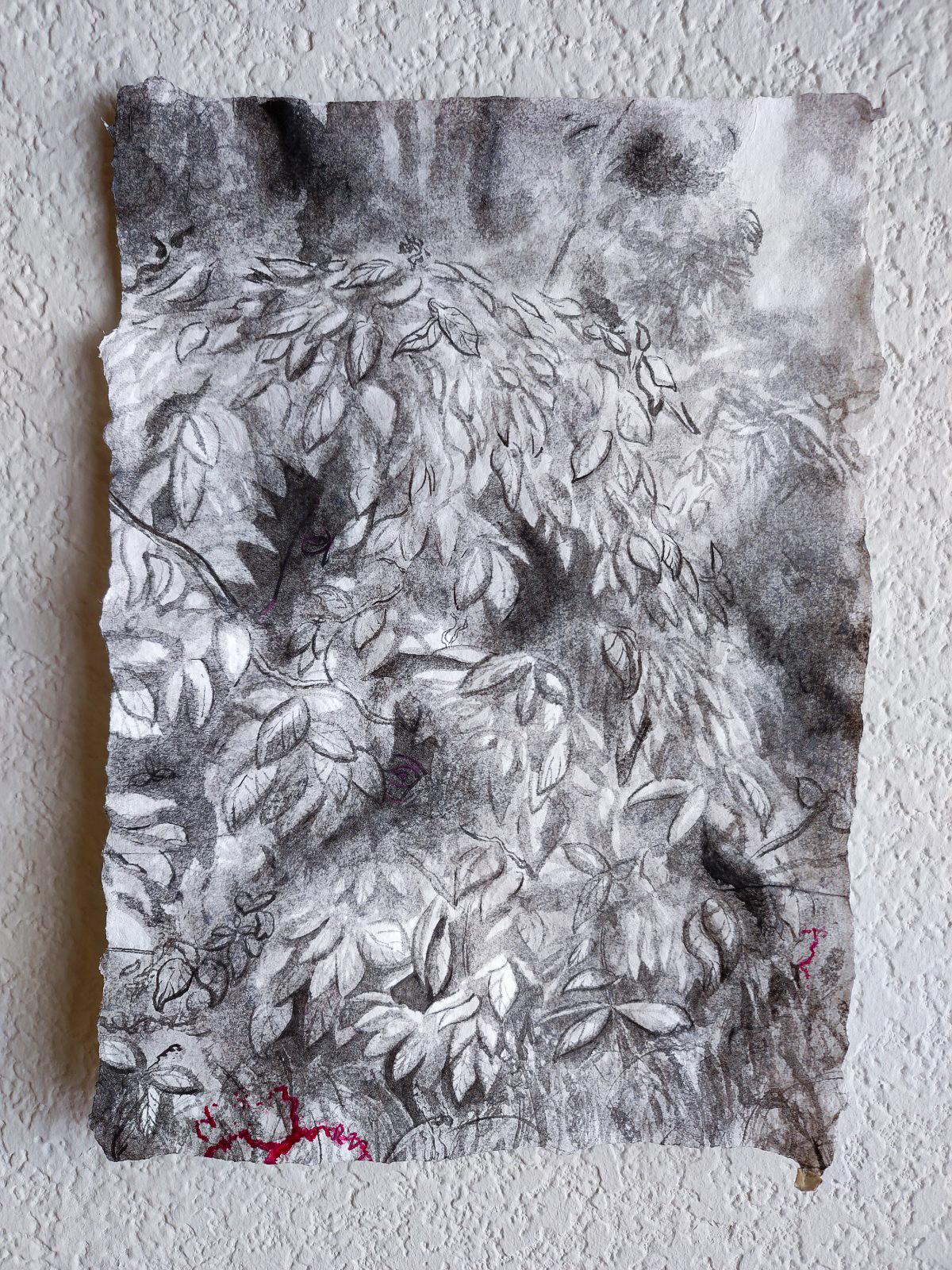 "Jonathan Adams, ""sigh, lost"" (2020) 8"" x 12.5"", ink on paper"