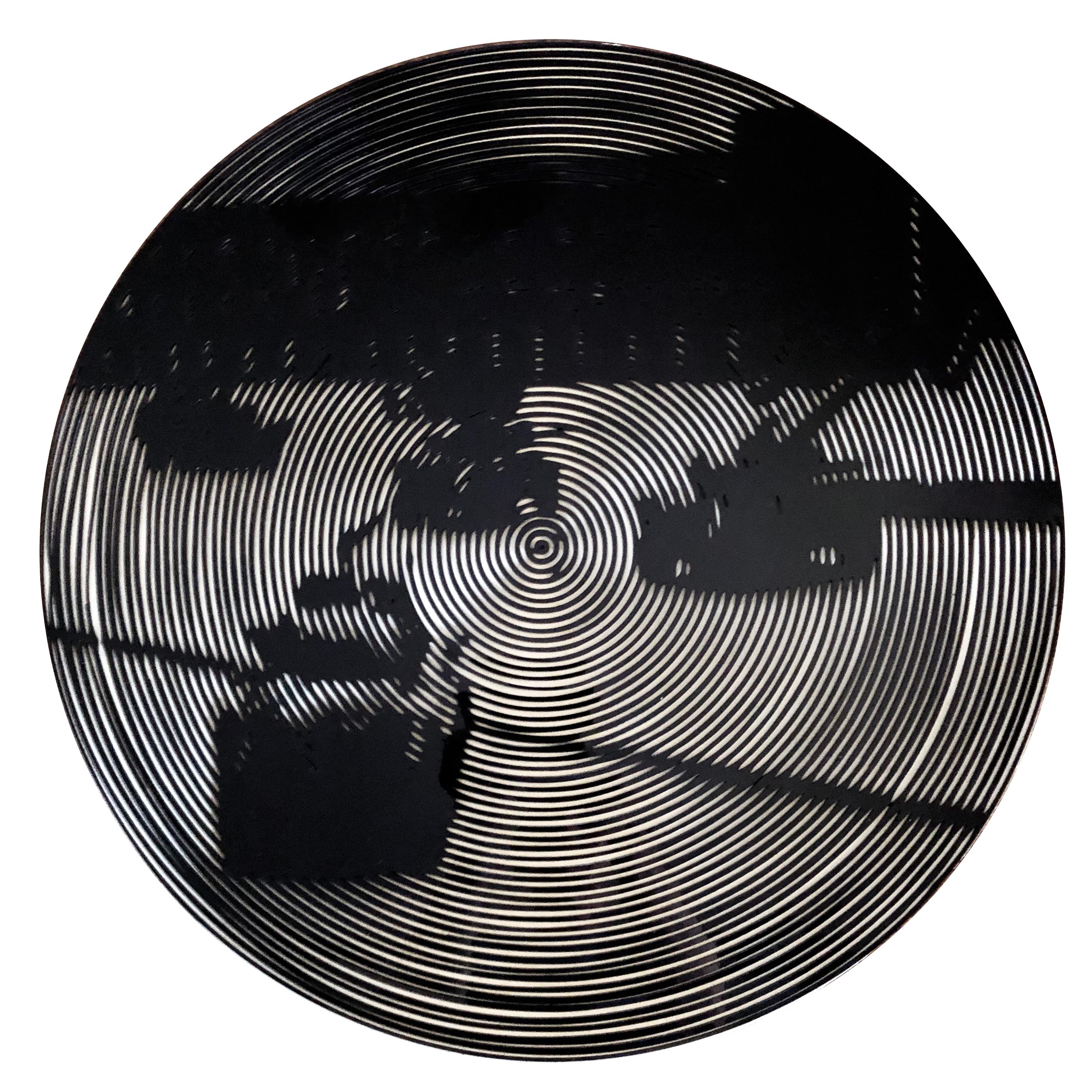 Nelson Gutierrez, Tanks, 2019, 24 inches in diameter, Plexiglass and MDF