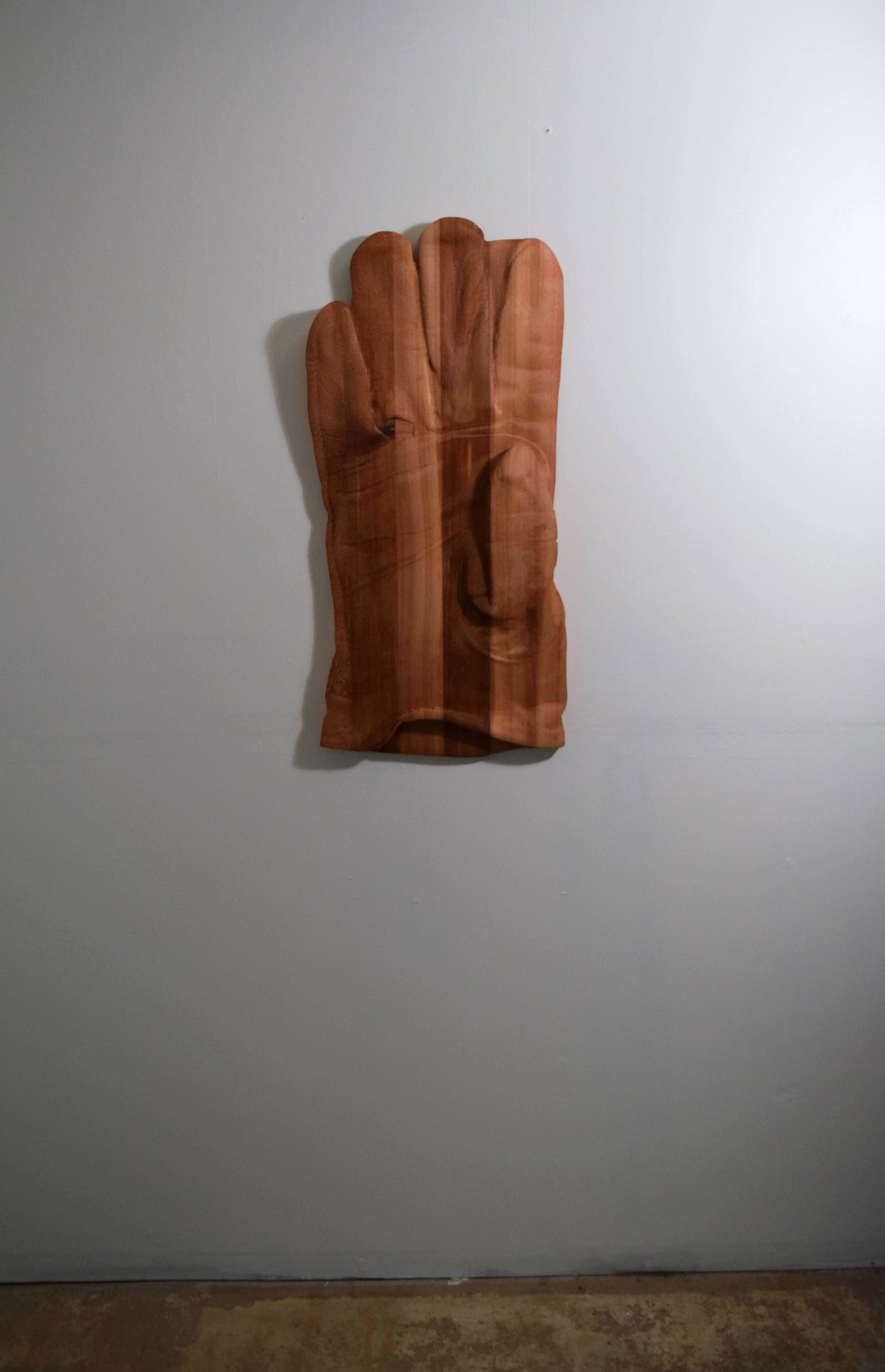 "Raymond Padrón, ""Roper"", CNC milled cedar, 2018"