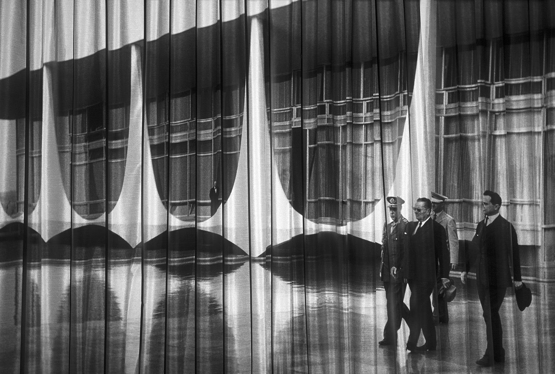 """Vesna Pavlović, Fototeka (Projection Still II), From """"Fabrics of Socialism"""" series, Archival Pigment Print, 20 x 30 in., 2015"""