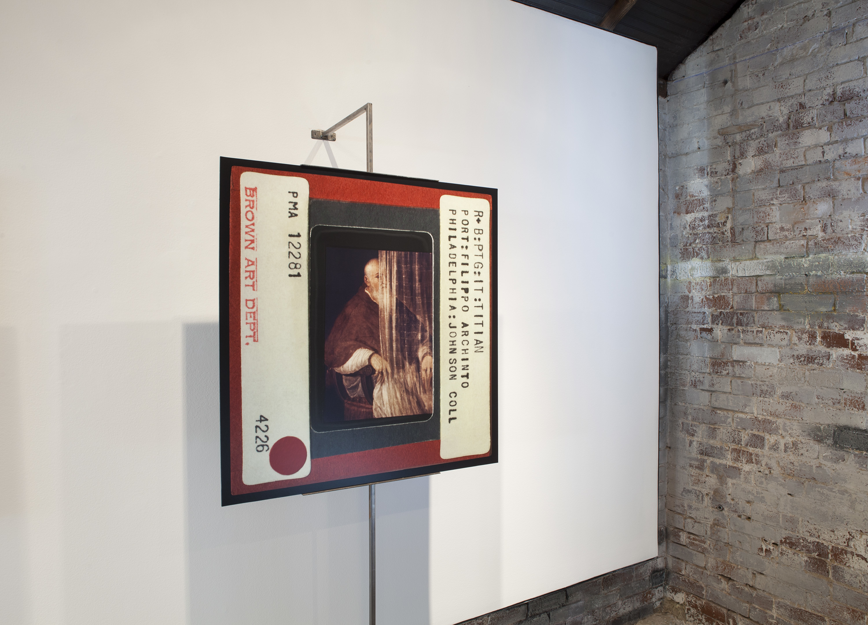 Vesna Pavlović, R+B:PTG:IT:TITIAN, PORT:FILIPPO ARCHINTO, 30 x 30 in., Endura metallic color print with metal stand, 2016