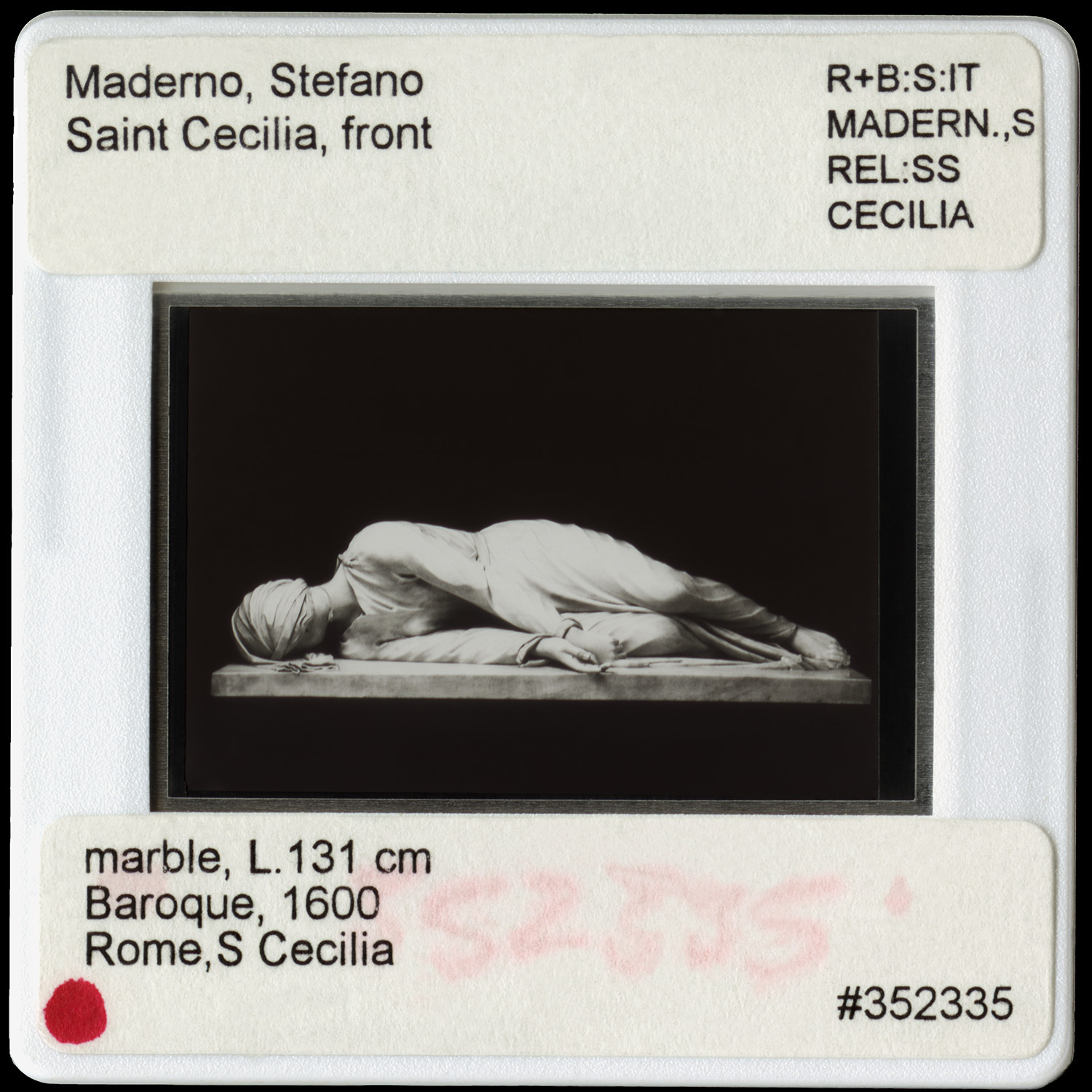Vesna Pavlović, Maderno, Stefano, Saint Cecilia, Front, 40 x 40 in., Archival pigment print, 10 x 8 ft Impression IFR Silver fabric curtain, 2016