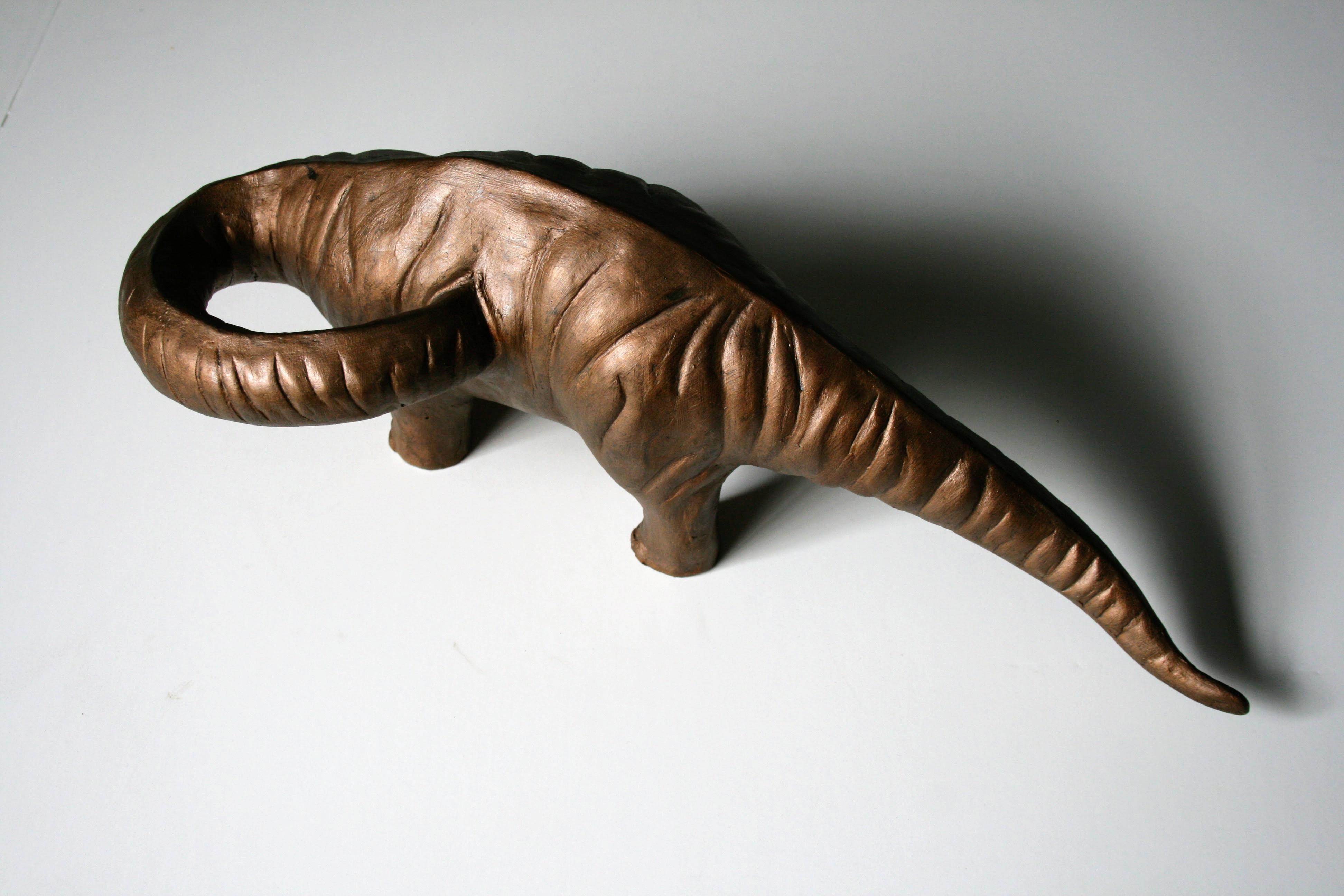 """Raymond Padrón, """"Doubting Brontosaurus"""", resin, paint, 2013"""