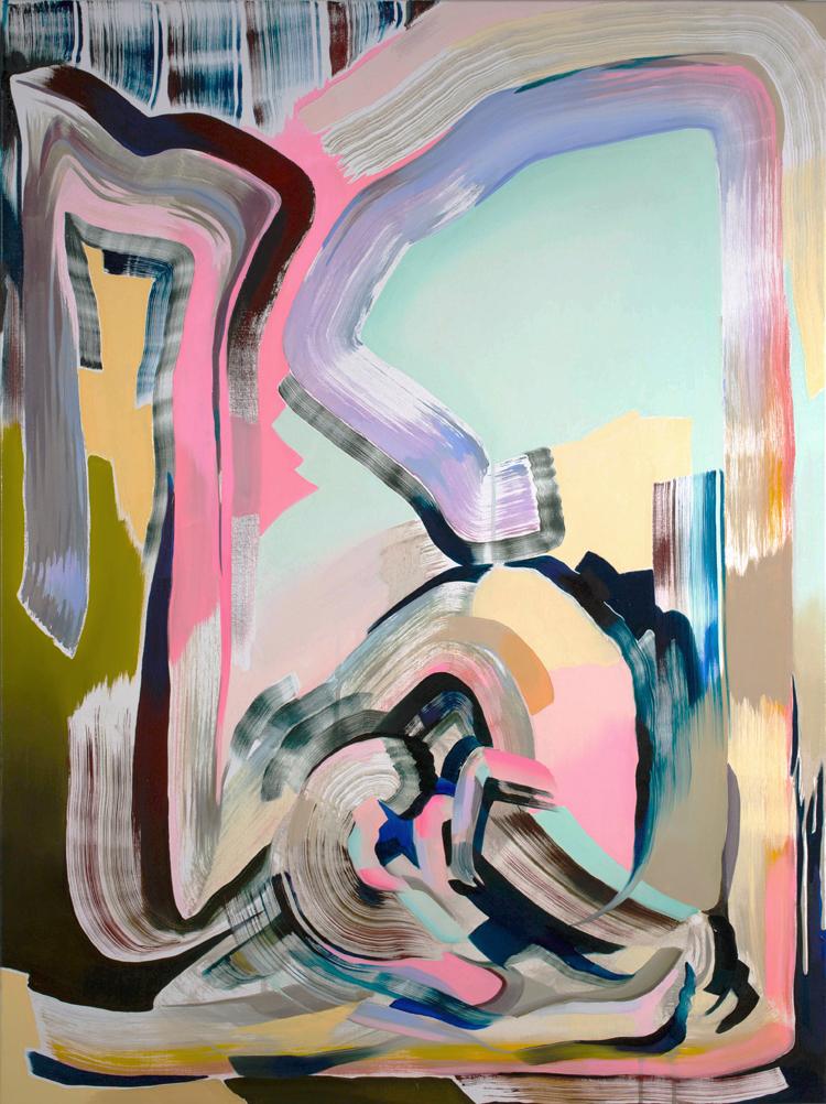 Karen Seapker, Dry Run (2015), oil on canvas, 40 x 30 inches