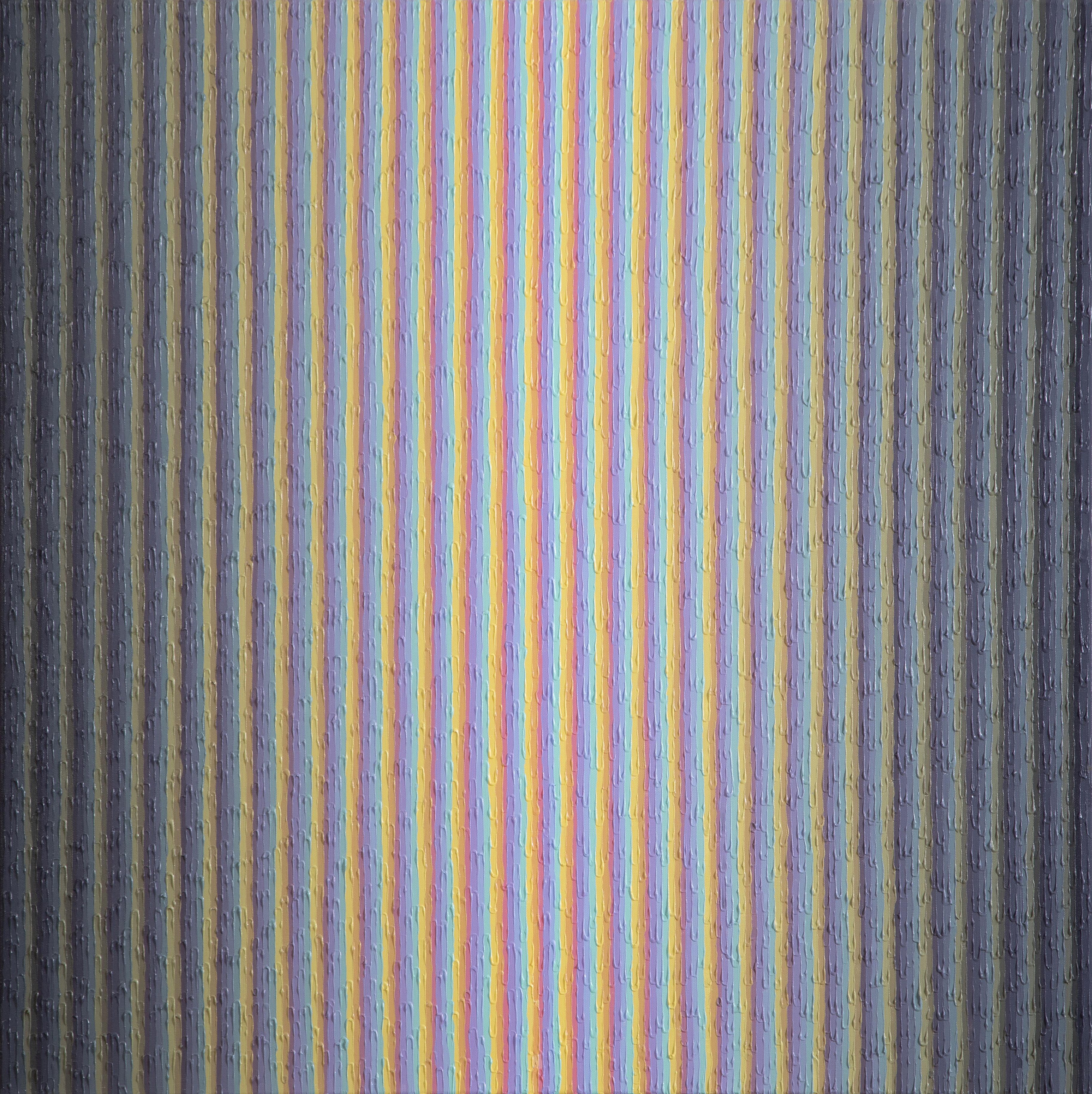 """Brianna Bass, Shadow Map II, Acrylic paint on canvas, 36"""" x 36"""", 2019"""