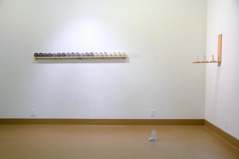 Osage, 2015, cast resin, porcelain, hydrocal, wood