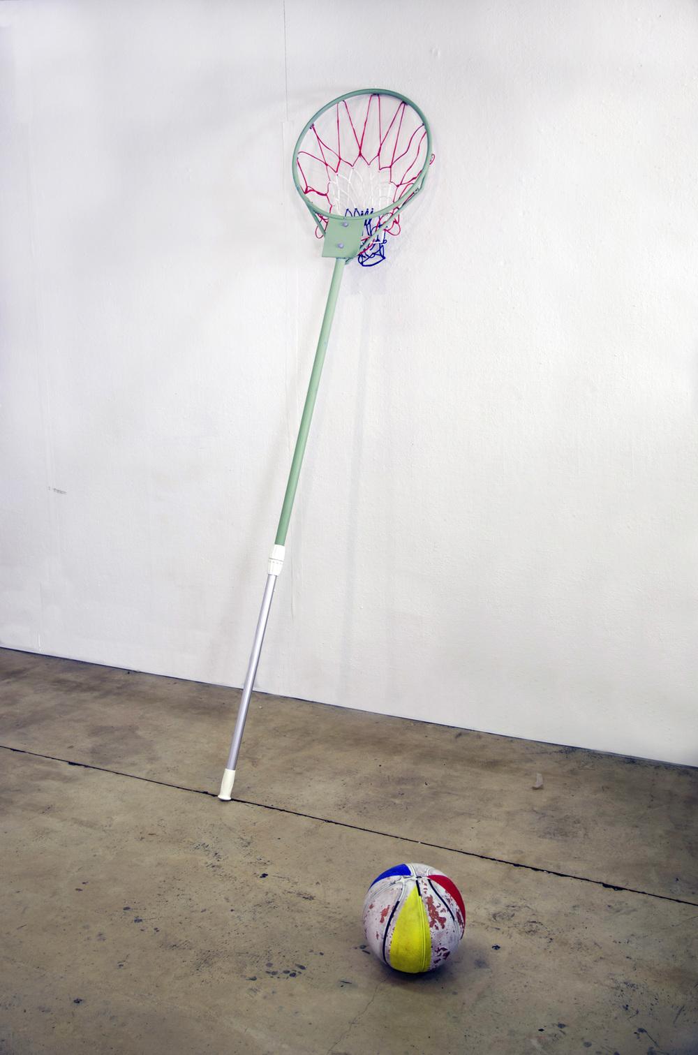 Skim, acrylic, steel, aluminum, found object, 2016