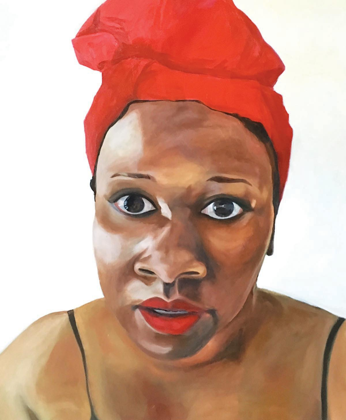 "Donna Woodley, Kelsheika, 2016, oil on canvas, 30 x 36"""