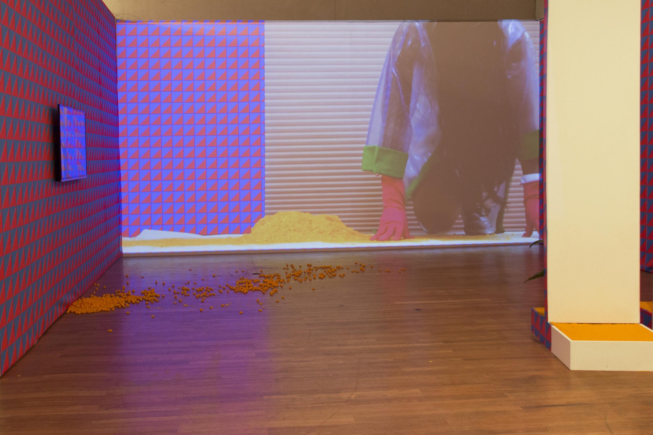 Jessica Gatlin, Here, A Vibration, mixed media installation, dimensions variable, 2017