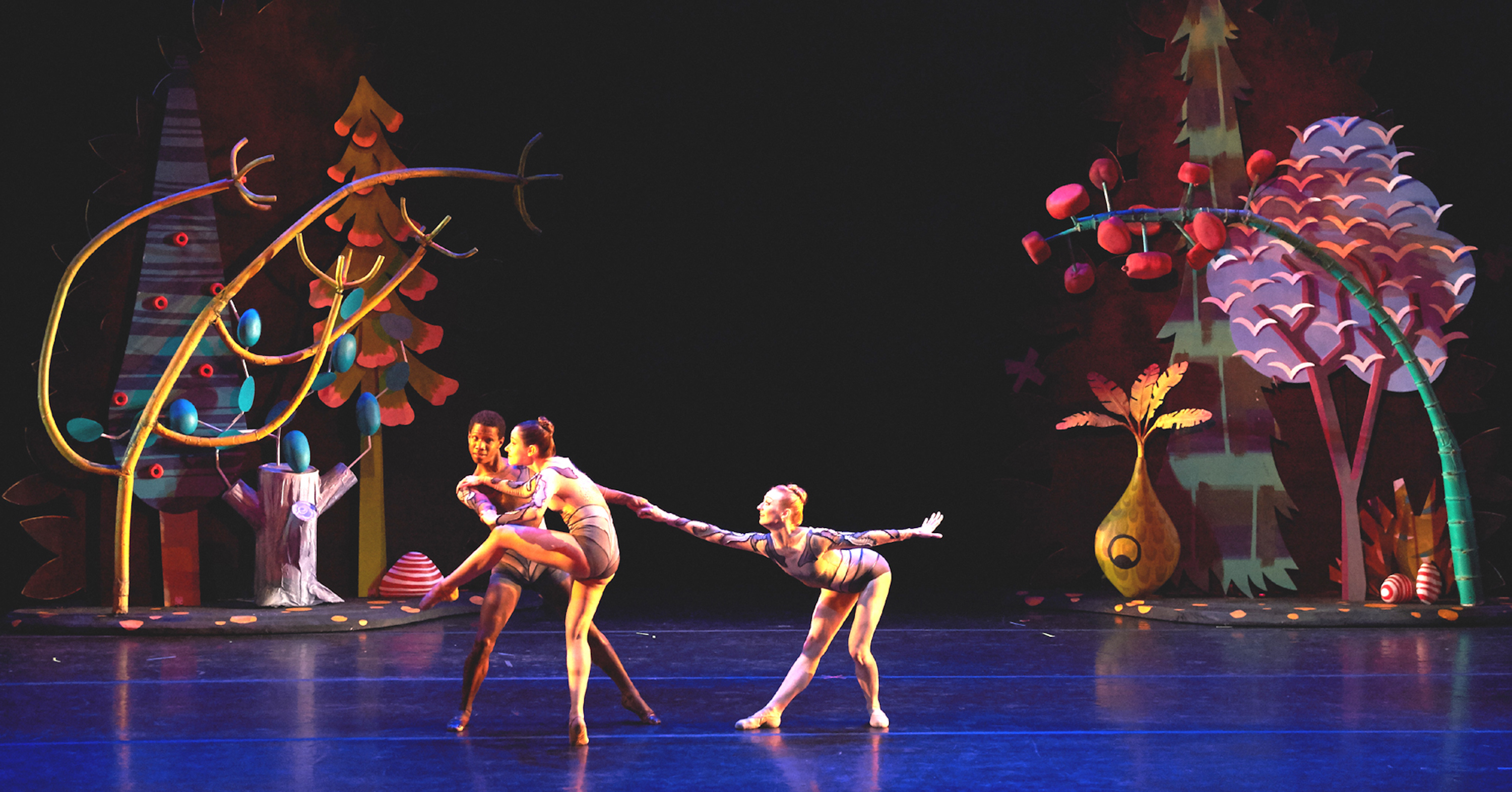 """Flyway (2019) set design commissioned for Ballet Memphis performance River Project; design; included (2) 2-sided, 19ft tall rolling islands on casters which could be choreographed like a dancer to create different """"spaces"""""""