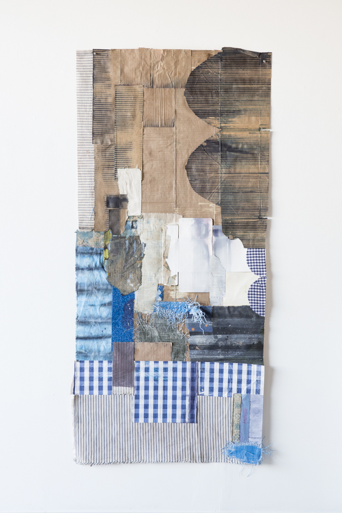 """Jodi Hays, Hope, 70"""" x 30"""" (2021), fabric, dye, paper (images courtesy of the artist and Sam Angel Photography)"""