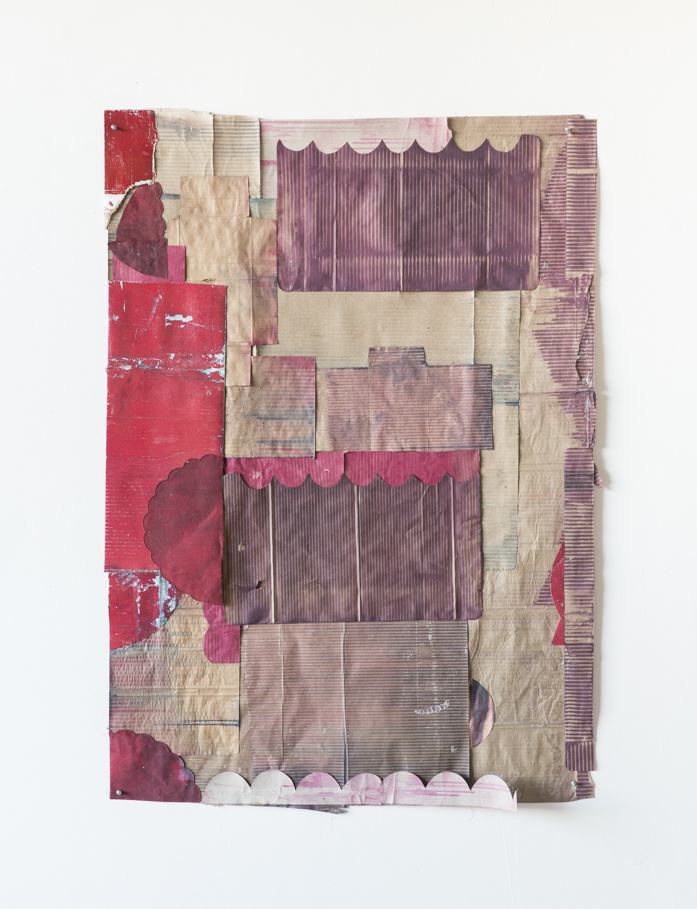 """Jodi Hays, Lovers Links, 56"""" x 40"""", dye, fabric, paper (images courtesy of the artist and Sam Angel Photography)"""