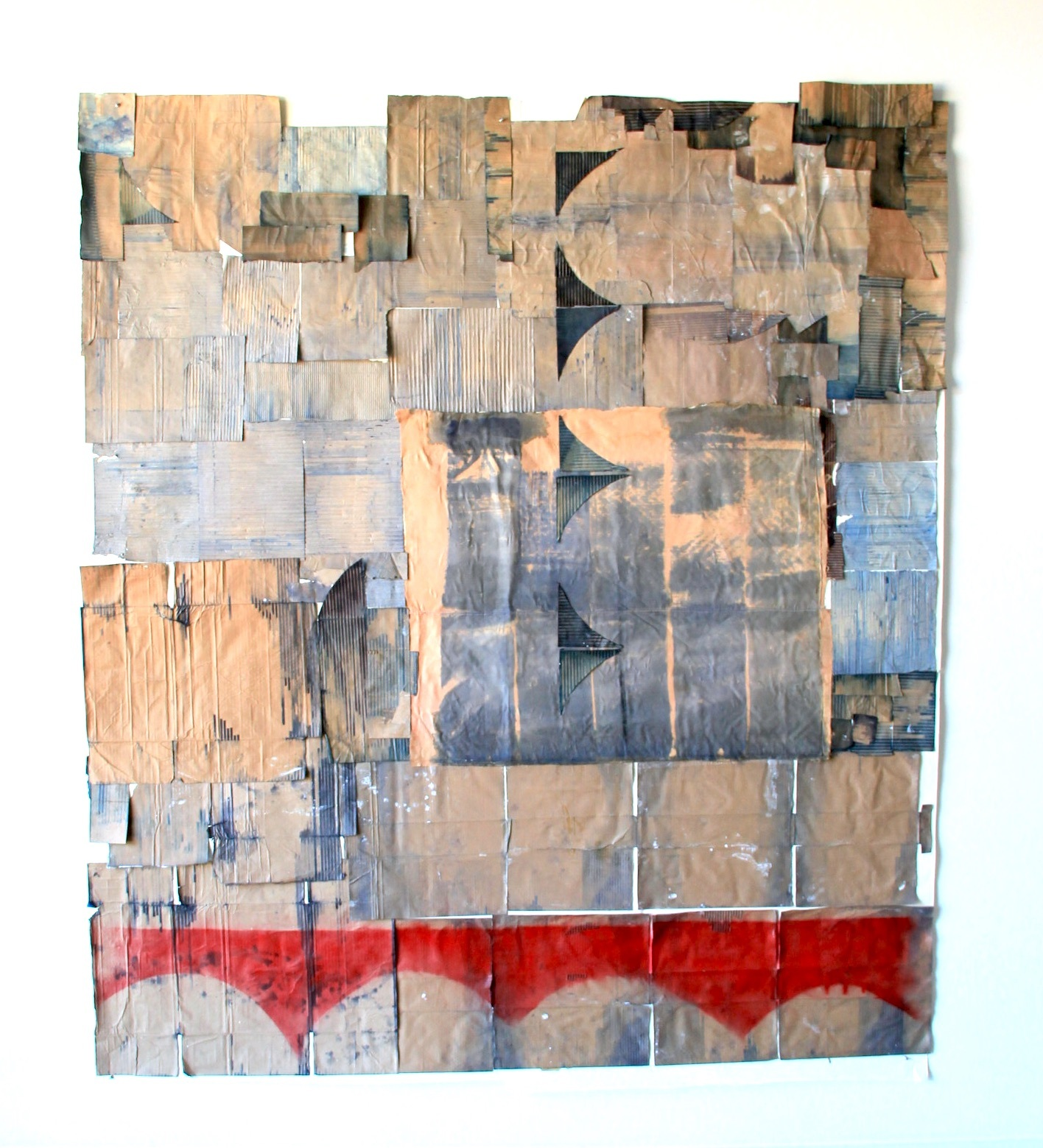 """Jodi Hays, Gulf, 104"""" x 84"""" (2020), bleach, paper, spray enamel (images courtesy of the artist and Sam Angel Photography)"""