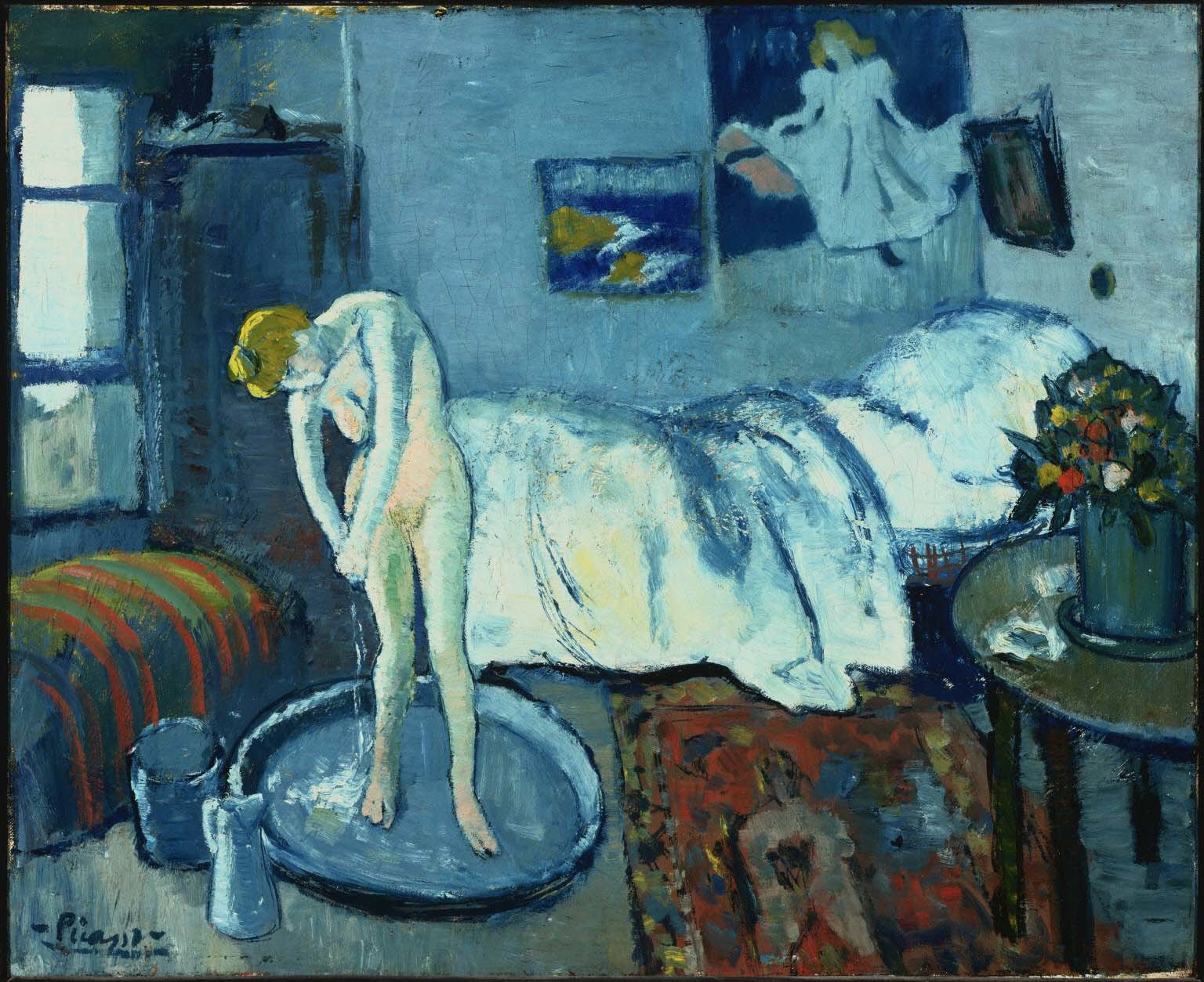 Pablo Picasso, The Blue Room, 1901, 21 x 24 inches, The Phillips Collection, Washington, DC