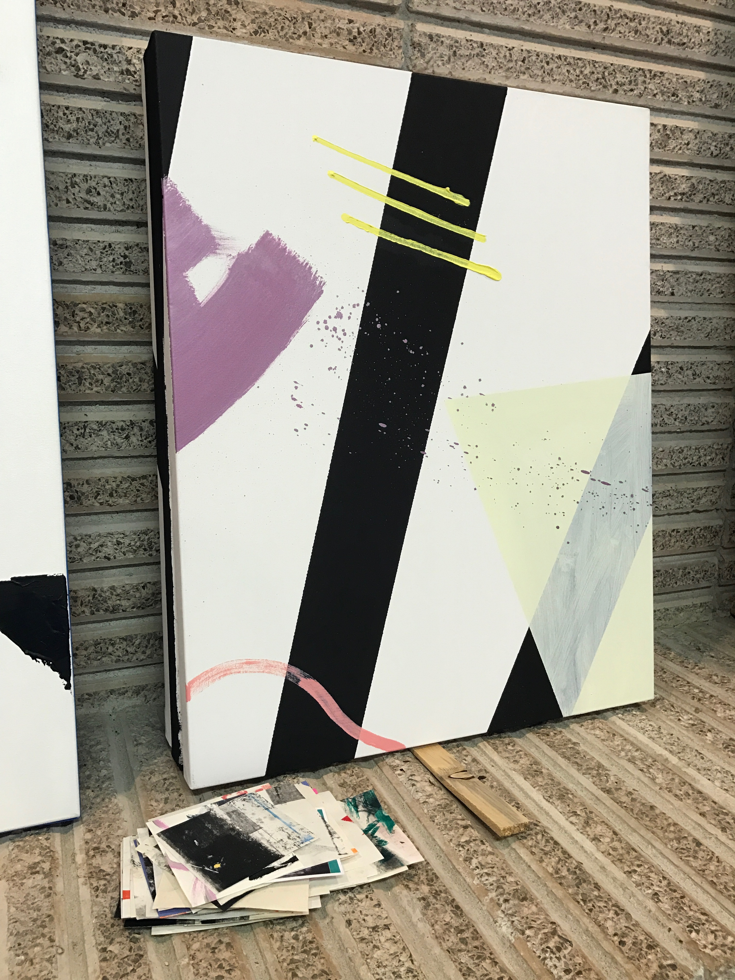 KJ Schumacher, Studio Visit, January 2017 (most works pictured are in progress)