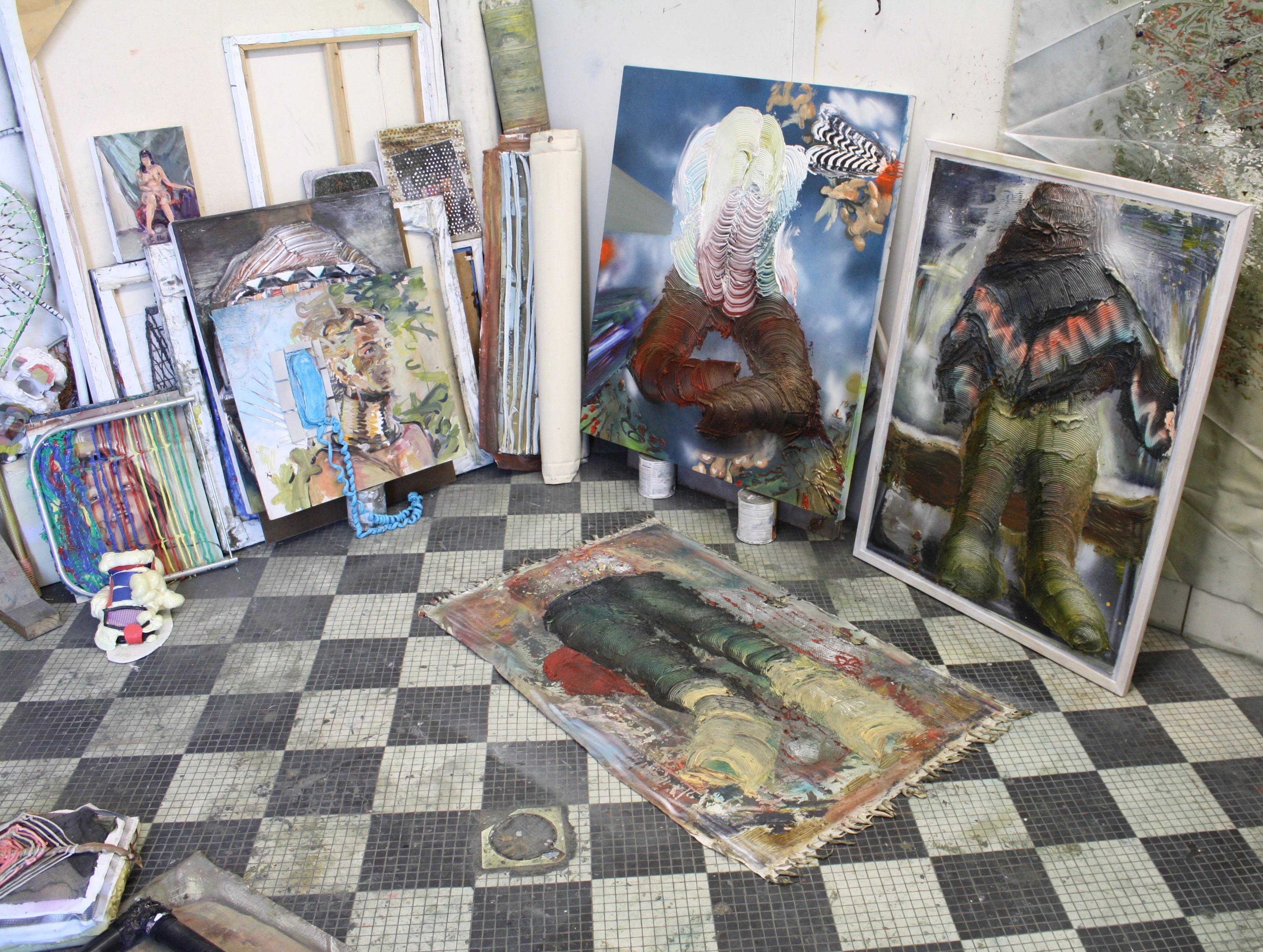 Eleanor Aldrich - studio visit July 2016