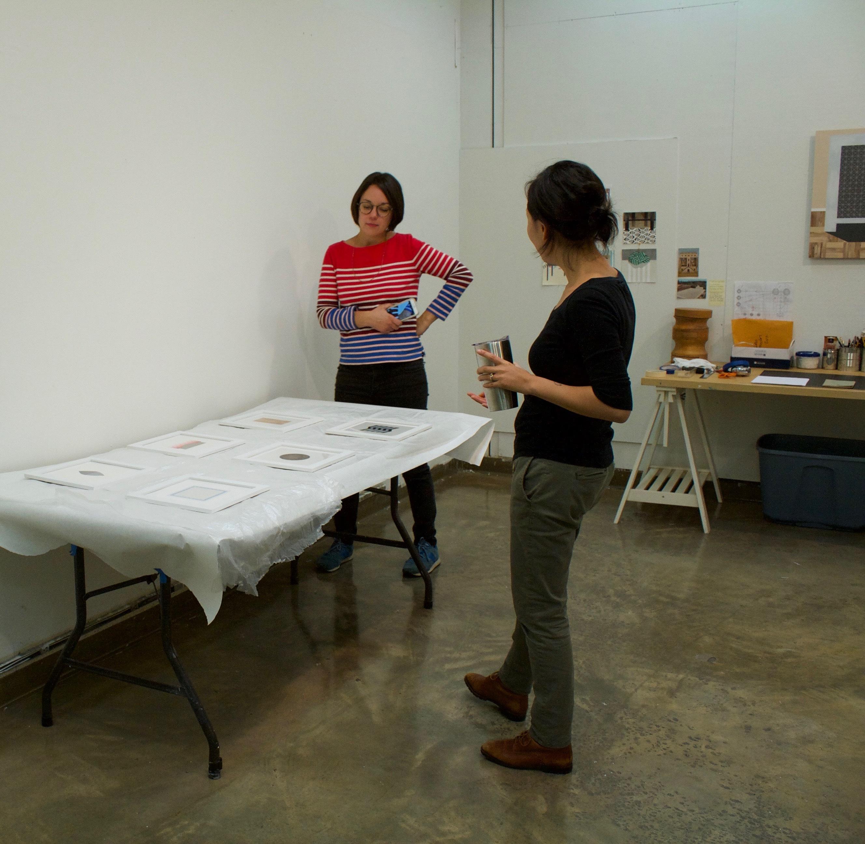 Mary Laube, Studio Visit, November 2017