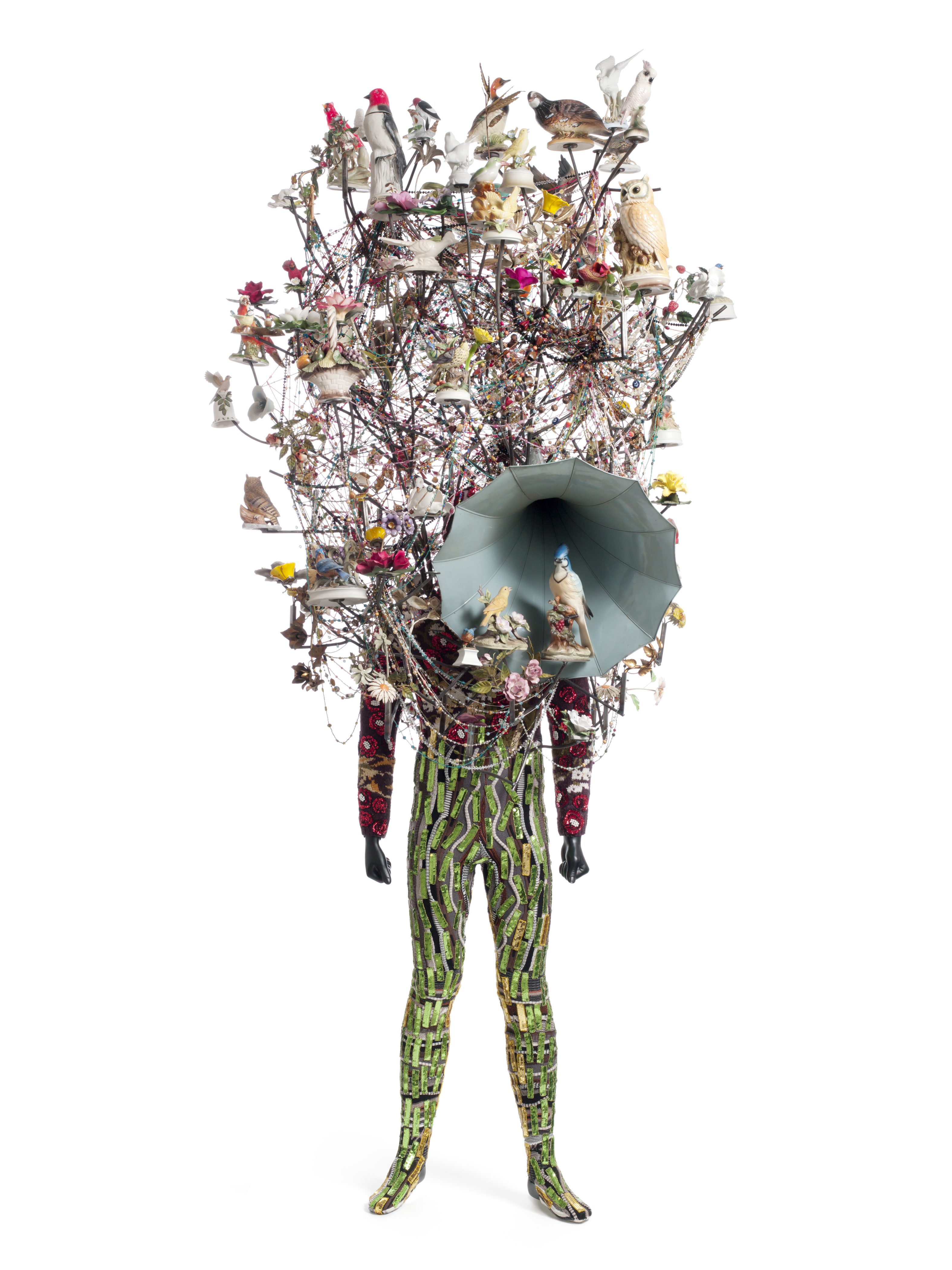 Nick Cave, Soundsuit, 2011. mixed media, 121 x 42 x 33 inches, ©Nick Cave. Photo by James Prinz Photography. Courtesy of the artist and Jack Shainman Gallery, New York.