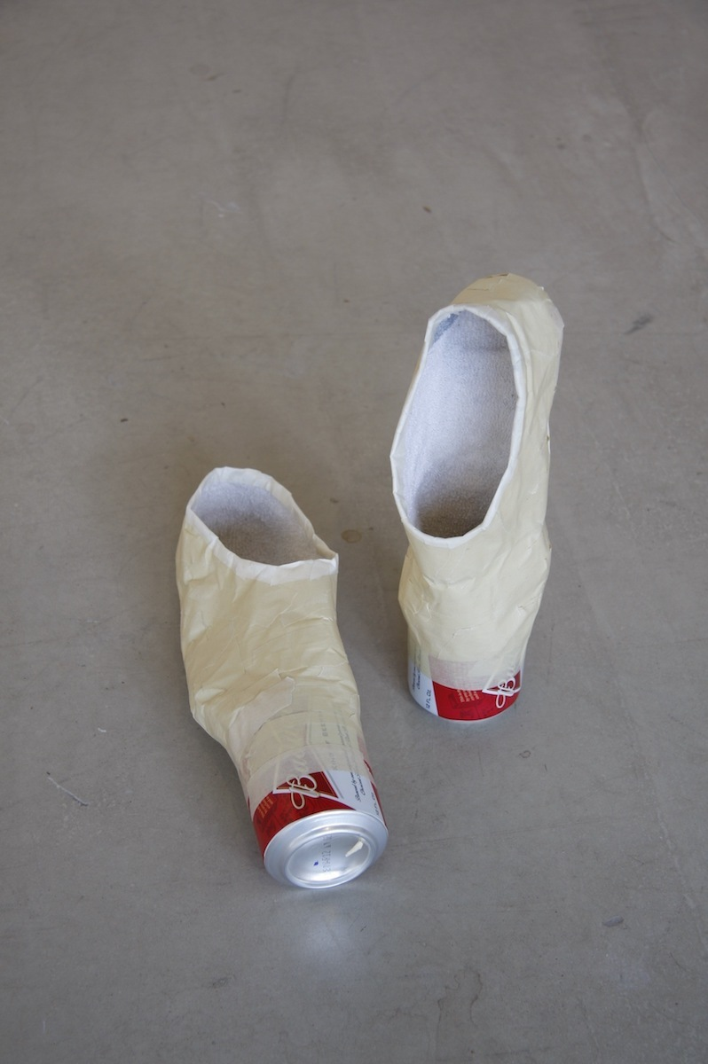 Joel Parsons, Pas de Bud, beer cans, socks, tapes, 8 x 4 x 4 inches, 2012 - present