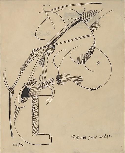 Francis Picabia, Fille née sans mère, 1915, 18.7 x 15.5 inches, Musée d'Orsay, Paris