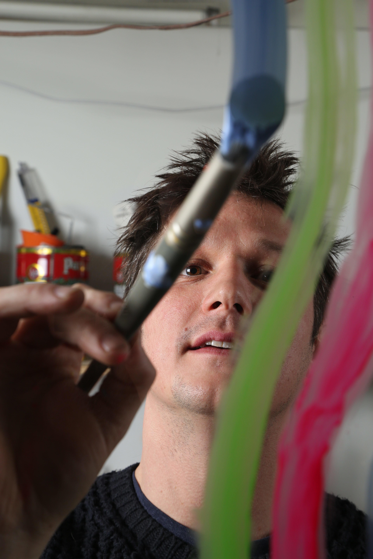 Duncan McDaniel in the studio