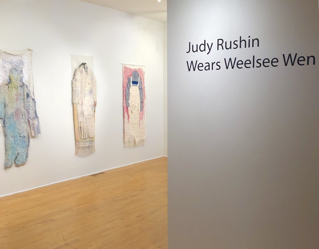 Unrequited Leisure, Gallery Visit featuring work by Judy Rushin, 2019. (Photo by Elysia Mann).