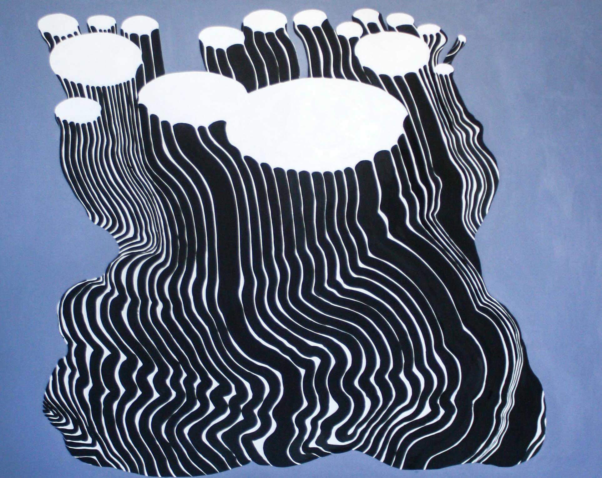 "Duncan McDaniel, The Death of Ursula, 2021, 48""x 60"", acrylic on panel"